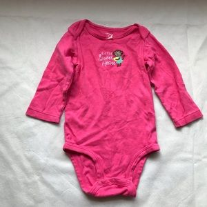 CARTER'S long sleeve onesie with monkey design